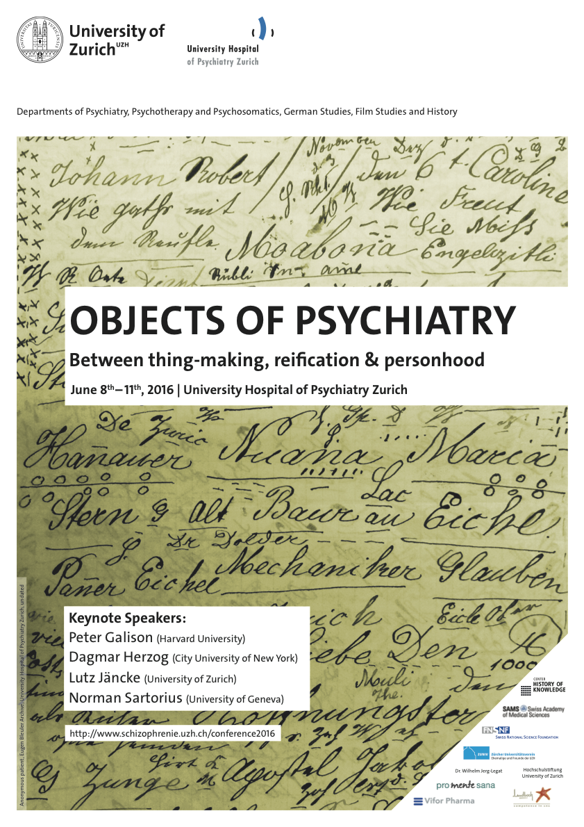 OBJECTS OF PSYCHIATRY: Between thing-making, reification & personhood